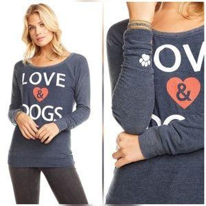 Chaser Love & Dogs Vintage Look Sweatshirt